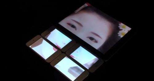 Pinch interface can link displays of multiple screens (w/ Video)