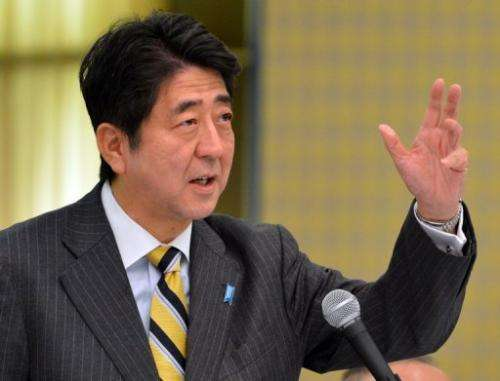 Japan's incoming PM Shinzo Abe, pictured in Tokyo, on December 18, 2012