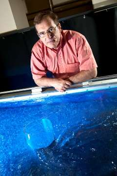 Kelso Baker Hydraulics Laboratory researchers model behavior of stream flow