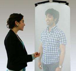 Life-size 3-D hologram-like telepods may revolutionize videoconferencing in the future