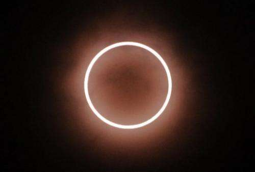 "Many in Tokyo got a spectacular sight of the ""ring of fire"" created by the solar eclipse"
