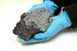Martian meteorite touches down at the University of Glasgow