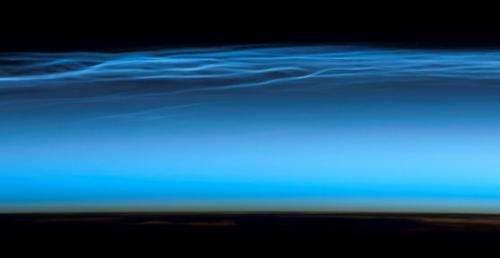 Meteor smoke makes strange clouds