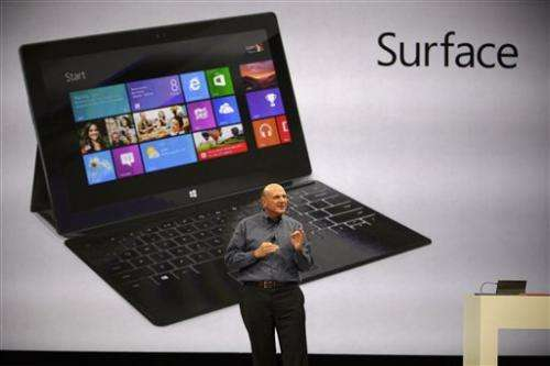 Microsoft's 'Surface' tablet aims for productivity