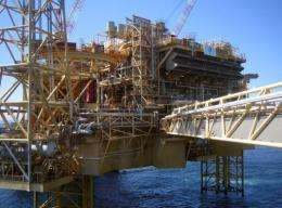 More than 200 workers have been evacuated from Total's Elgin platform, seen here in 2009