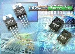 Toshiba announces family of ultra-efficient, high-speed, low voltage MOSFETs
