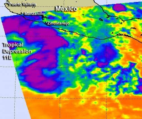 NASA gives infrared identification of new Eastern Pacific Tropical Depression