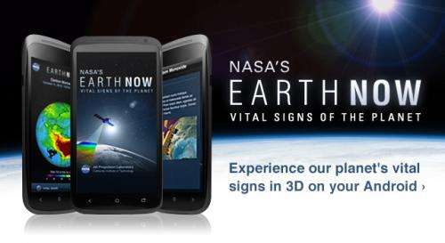 NASA's 'Earth Now' app now available for Android