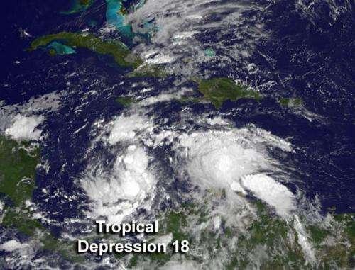 NASA sees 18th Atlantic depression form