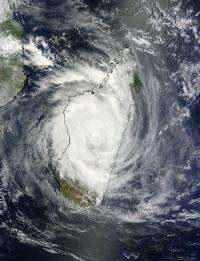NASA sees deadly Cyclone Giovanna over the center of Madagascar