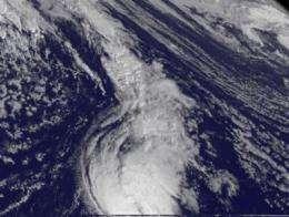 NASA sees tiny Tropical Storm Tony traveling