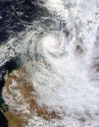 NASA sees Tropical Storm Heidi approaching Australia's Pilbara coast