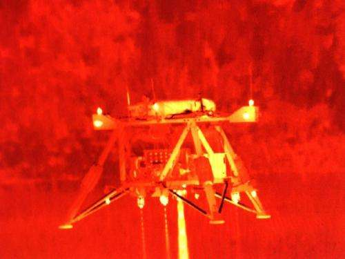 NASA's 'Mighty Eagle' robotic prototype lander takes 100-foot free flight