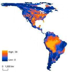Nearly one-tenth of hemisphere's mammals unlikely to outrun climate change