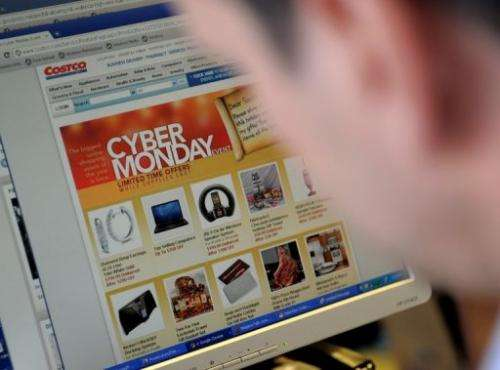 "Online sales for ""Cyber Monday,"" the traditional debut for US holiday Web shopping, jumped to $1.465 billion this year"