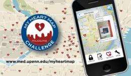 Penn Medicine contest maps 1,400 lifesaving AEDs via crowdsourcing contest fueled by smart phones