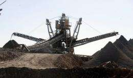 Plant equipment is pictured at France's nuclear giant Areva's uranium mine on September 26, 2010 in Arlit, Niger