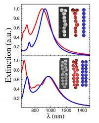 Plasmonic chains act like polymers