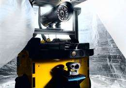 Robot reconnoiters uncharted terrain