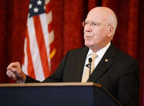 Senate judiciary chairman Patrick Leahy, pictured in July, sponsored the measure