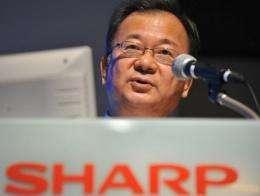 Sharp President Takashi Okuda, pictured in Tokyo