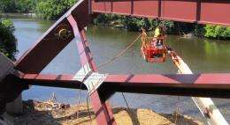 Smart bridges: Engineers load new bridge with damage-detection gauges