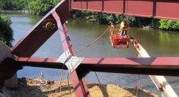 Smart bridges: Engineers load new bridge with damage-detection gauges