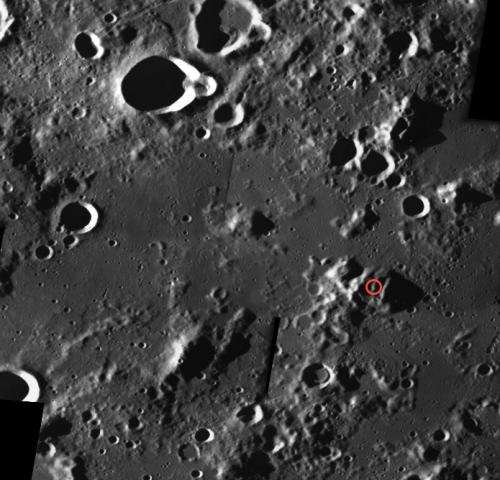 SMART crater on the Moon