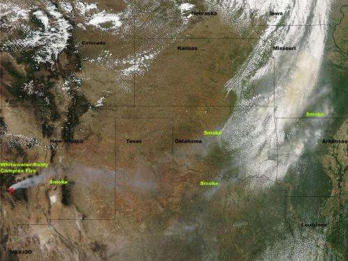 Smoke from Whitewater-Baldy complex fire affecting 6 states