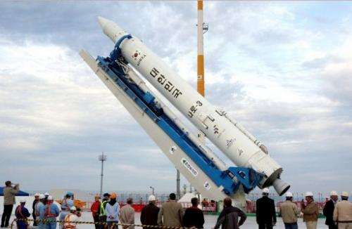 South Korea held a final dress rehearsal Wednesday for its third attempt to send a satellite into orbit