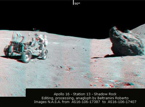 Spectacular 360-degree 3-D panorama from Apollo 16