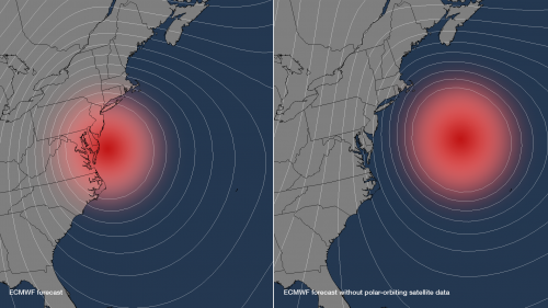 Study shows polar-orbiting satellite data was key to pinpointing Sandy's track and time of landfall