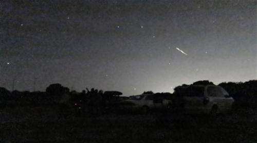 Stunning meteor showers light up California sky