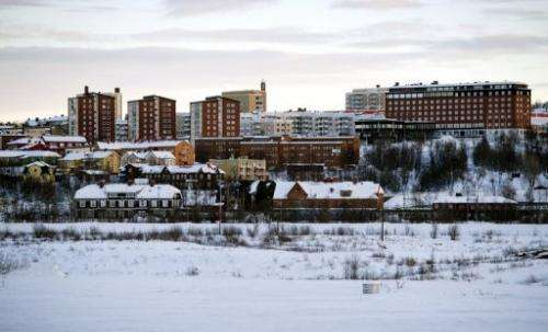 Sweden's northernmost town of Kiruna on November 16, 2012