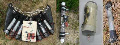 Taking the edge off a pipe bomb -- literally