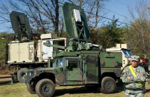 The Active Denial System will be used for mob dispersal and checkpoint and perimeter security