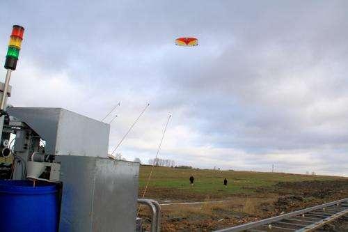 The energy of stunt kites