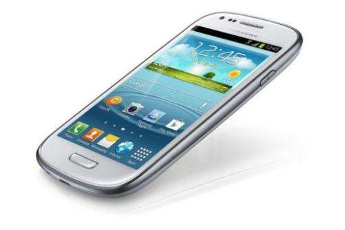 The Galaxy S III Mini has a four inch high-definition touch screen