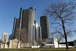 The General Motors headquarters in Detroit, Michigan