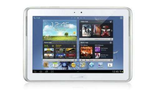 The new device, Samsung's Galaxy Note 10.1, is equipped with a quad-core processor