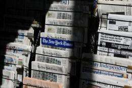 There are currently 1,350 English-language daily newspapers in the United States, down from 1,400 five years ago