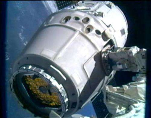 The release of the unmanned Dragon is set for 5:35 am Eastern time (0935 GMT) on Thursday