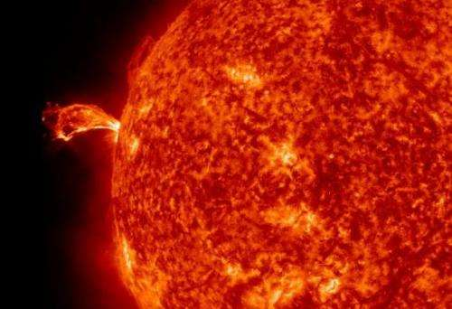 The sun spits out a coronal mass ejection
