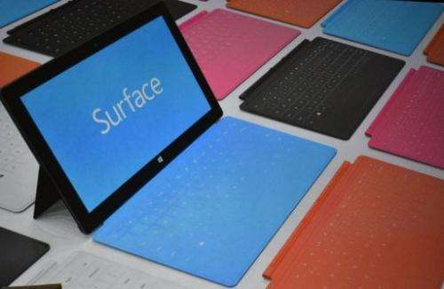 The Surface's prices are in line with the iPad, which begins at $499 but with less memory.