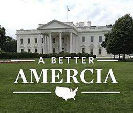 """The White House pictured with an application """" from the campaign of Republican presidential hopeful Mitt Romney"""