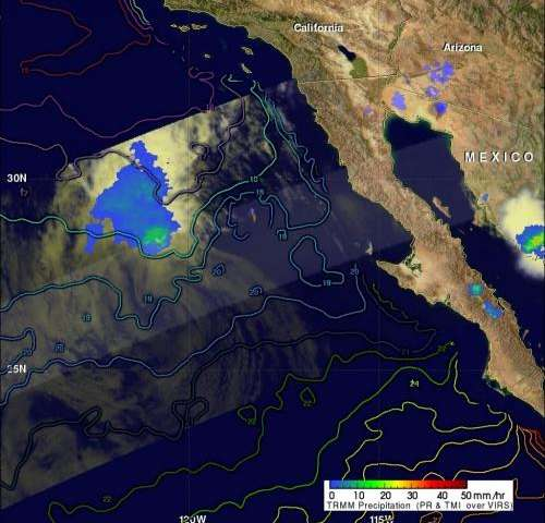TRMM sees Fabio's remnants fading in cool Pacific waters