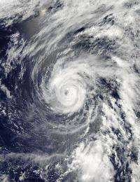 Typhoon Sanvu affecting Iwo To, then expected to fade over weekend