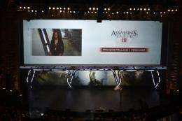 Ubisoft producer Francois Pelland presents 'Assassin's Creed 3,' in Los Angeles