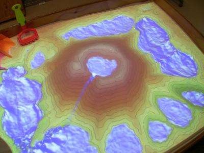 University research team creates augmented reality sandbox (w/ Video)
