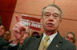 US Senator Charles Grassley is a Republican from Iowa